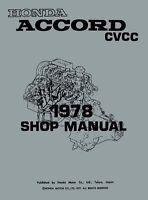 HAYNES Honda Accord CVCC 1976-1983 all models shop repair