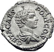 GETA 205AD Rome Silver Authentic Genuine Ancient Roman Coin Altar i63441