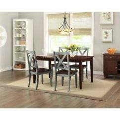Farmhouse Dining Room Chairs Universal Wedding Chair Covers Sale Set Ebay Table Rustic Rectangle Wood Kitchen Tables And