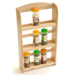 Kitchen Racks Toy Hauler With Outdoor Unbranded Wooden And Holders Ebay 3 Tier Wood Herb Herbs Jar Holder Spice Rack Stand Wall Mounted