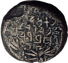 Jewish King ALEXANDER JANNAEUS Ancient Jerusalem WIDOW's MITE Bible Coin i62590