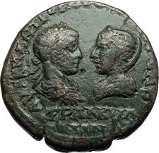 GORDIAN III & TRANQUILLINA Ancient Anchialus Thrace Roman Coin TYCHE i70726