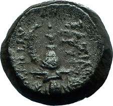 TRYPHON Rare Ancient 142AD Seleukid Authentic Ancient Greek Coin w HELMET i66593