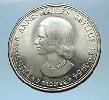 1964 DENMARK King Frederick IX Silver Princess ANNE MARIE WEDDING Coin i68569