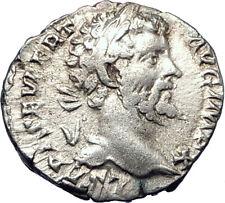 SEPTIMIUS SEVERUS 198AD Authentic Silver  Ancient Roman Coin PAX PEACE  i73270