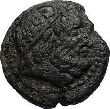 SYRACUSE SICILY 2-1CenBC RARE R2 Ancient Roman / Greek Coin ZEUS & TYCHE i67205