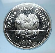 1976 PAPUA NEW GUINEA Proof Silver 5 Kina Coin w PAPUAN Harpy EAGLE i68597