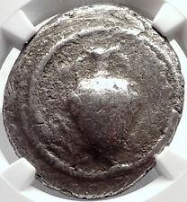 TERONE in MACEDONIA Rare R2 Ancient SIlver Tetradrachm Greek Coin NGC i69810