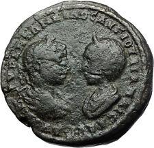 ELAGABALUS & JULIA MAESA Authentic Ancient 218AD Marcianopolis Roman Coin i71053