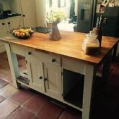 Oak Kitchen Islands Table With Drawers Carts Ebay Modern