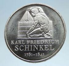 2006 GERMANY Karl Schinkel Architect Mason Genuine Proof Silver 10EU Coin i75174