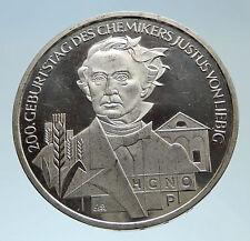 2003 GERMANY with Justus von Liebig Chemist Genuine Silver 10 Euro Coin i75324