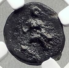 Athl / Atl / AΘA Mint in SICILY 340BC Athena Rare Ancient Greek Coin NGC i72667