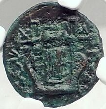OLYNTHOS MACEDONIA 420BC Chalkidian League Ancient Greek Coin APOLLO LYRE i72837