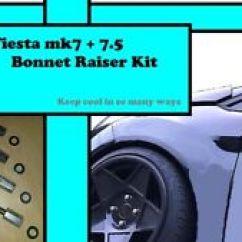 Ford Fiesta Mk7 Headlight Wiring Diagram 2001 Pontiac Grand Am Speaker Bonnets Parts For Ebay 5 Bonnet Raisers 25mm 2008 2017 Race Cooling