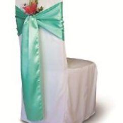 Green Banquet Chair Covers The Gym Wedding Ebay 200 Aqua Satin Cover Sash Bows 6 X 108 Decor