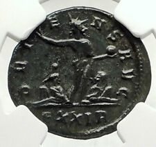 AURELIAN Authentic Ancient 274AD Rome Genuine Roman Coin SOL CAPTIVES NGC i76313