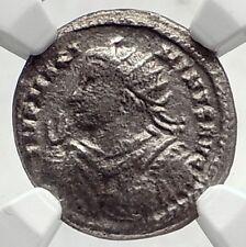 MAXIMINUS II Daia Authentic Ancient Argenteus Roman Coin SOL CHARIOT NGCi72725
