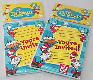 dr seuss party in greeting cards