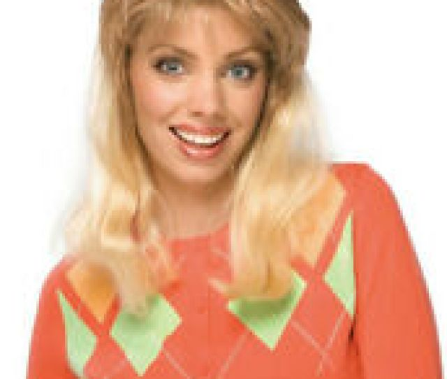 Super Mom Soccer Mom Blonde Wig With Bangs