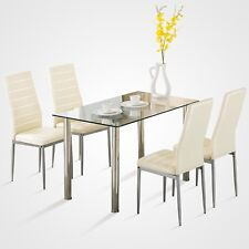 kitchen table and chairs with wheels best tailgate dining furniture sets ebay 5 piece set white glass 4 faux leather