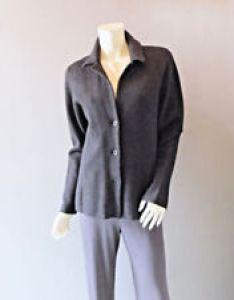 Black also eileen fisher cotton blend coats jackets  vests for women ebay rh