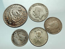 GROUP LOT of 5 Old SILVER Europe or Other WORLD Coins for your COLLECTION i75679