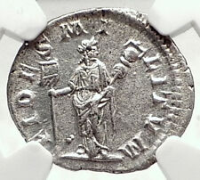 ELAGABALUS Authentic Ancient 219AD Silver Roman Coin w FIDES FIDELITY NGC i72793