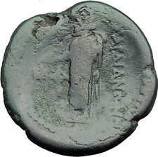 SARDES in LYDIA 133BC Authentic Ancient Greek Coin TYCHE & ZEUS w EAGLE i62823