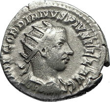 GORDIAN III 243AD Silver Authentic Genuine Ancient Roman Coin SOL SUN  i67352