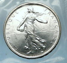 1964 FRANCE French LARGE Silver 5 Francs Coin w La Semeuse SOWER WOMAN i68201