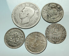 GROUP LOT of 5 Old SILVER Europe or Other WORLD Coins for your COLLECTION i75681