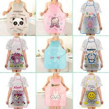 cute kitchen aprons countertop ideas on a budget womens ebay 12 pattern women cartoon waterproof apron restaurant cooking bib