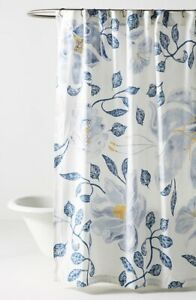 white blue shower curtains for sale ebay