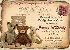 teddy bear picnic invites for sale ebay