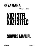 Yamaha Quick Reference Service Manual Spec Data Sheet