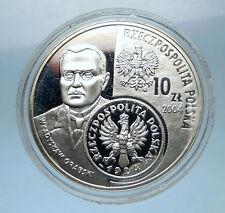 2004 POLAND Silver 10 Zlotych Proof Silver Coin Władysław Grabski ZLOTY i68324