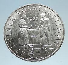 1960 AUSTRIA 40Yr Carinthian Plebiscite Silver 25 Shillings Austrian Coin i75131