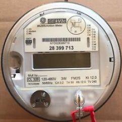 Ge Kv2c Multifunction Meter Fitzall Wiring Diagram Of The Human Tongue And Taste Buds Kv In Other Test Meters Detectors Ebay General Electric Watthour Kwh Fm2s 4 Lug 3w