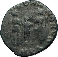 ARCADIUS 388AD  Authentic Ancient Roman Coin Three emperors with spears  i73498
