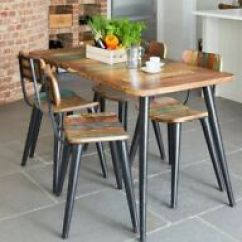 Retro Kitchen Tables Carts Target Vintage Dining Ebay Industrial Table Solid Rustic Wood Small Furniture Metal