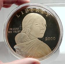 2000 US HUGE 8.6cm 4oz SILVER Gold-plated Medallion SACAGAWEA like Coin i74050