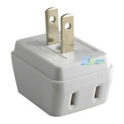3 Way Outlet 1993 Jeep Cherokee Sport Radio Wiring Diagram In Travel Plug Adapters Voltage Converters Ebay Split 1 Into A Us Wall Charger Adapter White
