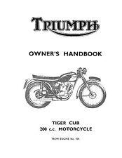 Tiger Triumph Motorcycle Repair Manuals & Literature for