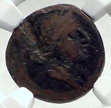 HYRIA Orra CALABRIA Authentic Ancient 210BC Greek Coin APHRODITE EROS NGC i77291