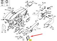 Mercedes Benz W212 E CLASS TRIM COVER STEERING COLUMN