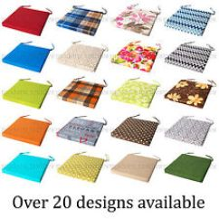 Chair Cushions Tie On Gliding With Ottoman Kitchen Pads Ebay Italian Fabric Cushion Seat Thick Garden Dining Square