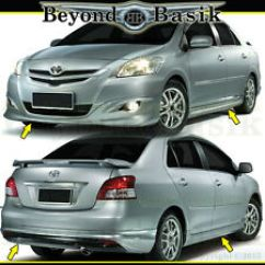 Toyota Yaris Trd Parts Grand New Avanza E 1.3 M/t Hyper Wings For Ebay 2007 2012 4pc Front Rear Bumper Side Skirts Style Body Kit Spoiler Fits
