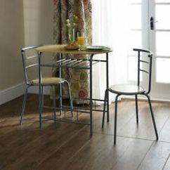 Kitchen Bistro Table Custom Knives Set Ebay Small Dining And Chairs Modern Oval Breakfast
