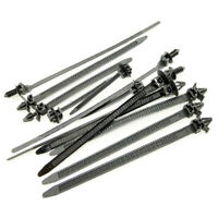 100Pcs/Set Push Mount Winged Cable Ties Car Chassis Zip